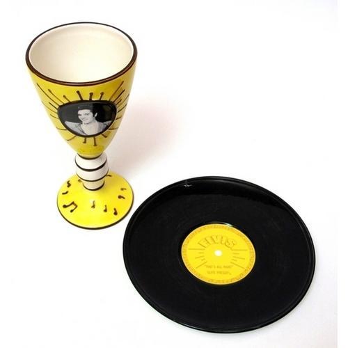 Elvis 1954 Goblet & Plate