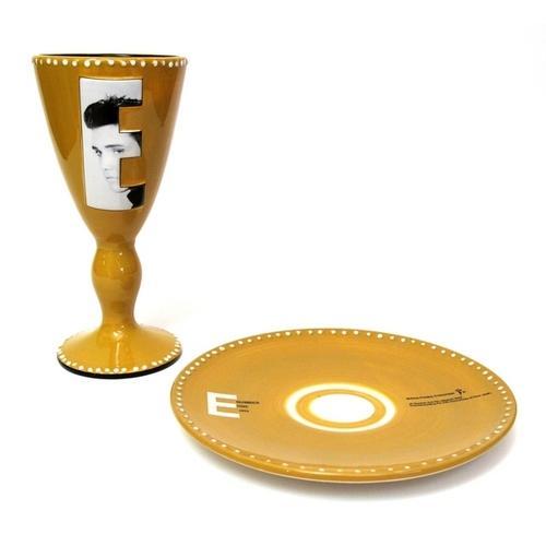 Elvis 2002 Goblet & Plate