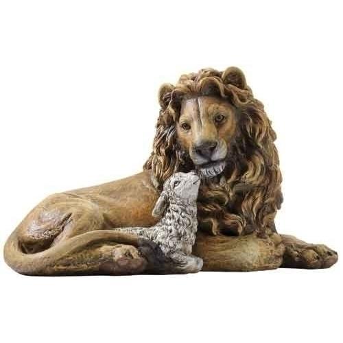 "8"" Lion & Lamb Figure"