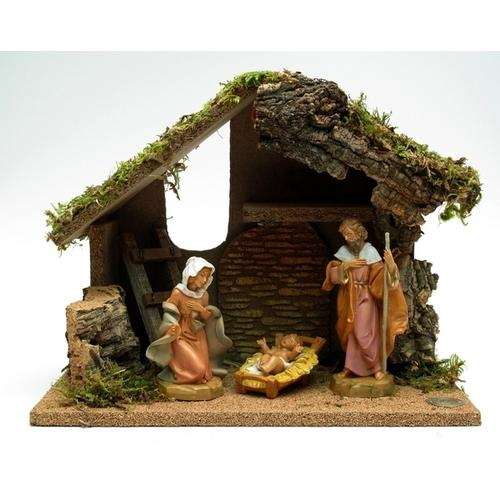 Fontanini Nativity 3pc with Starter Stable plus DVD