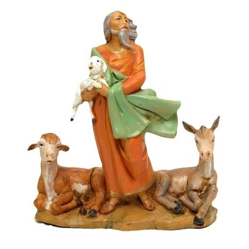 Fontanini 5'' Scale Nathaniel Shepherd w Animals Limited Edition