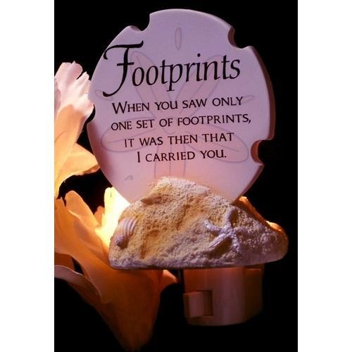 Footprints Poem Night Light