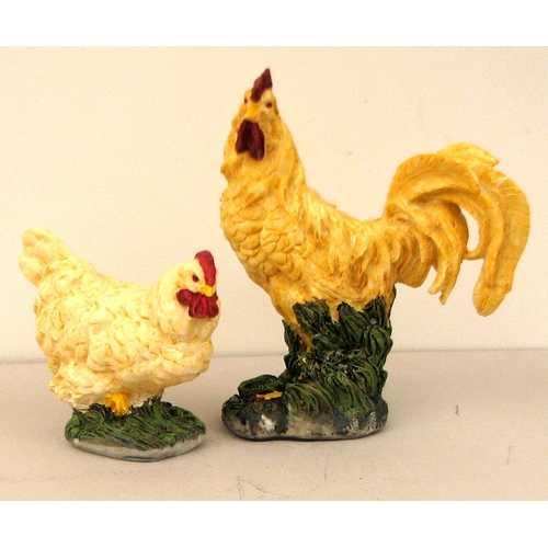 Rooster & Hen Figures Set/2