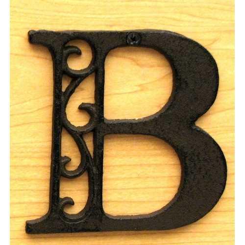 Cast Iron Letter B