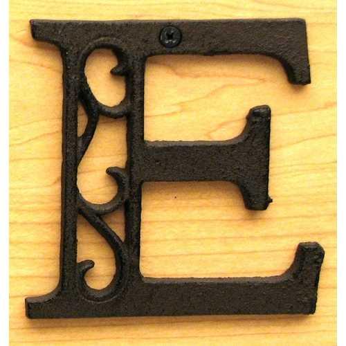Cast Iron Letter E