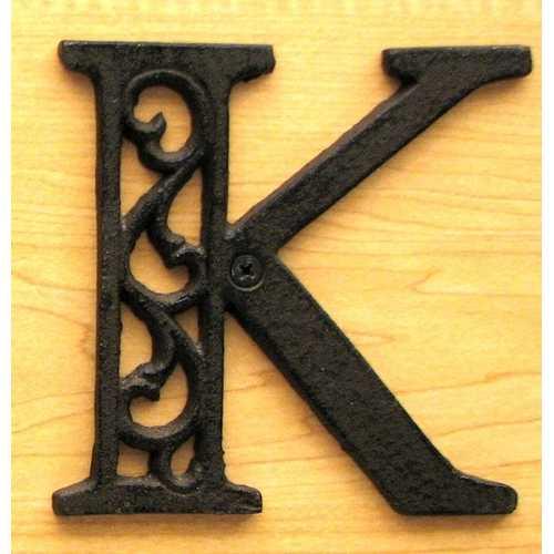 Cast Iron Letter K