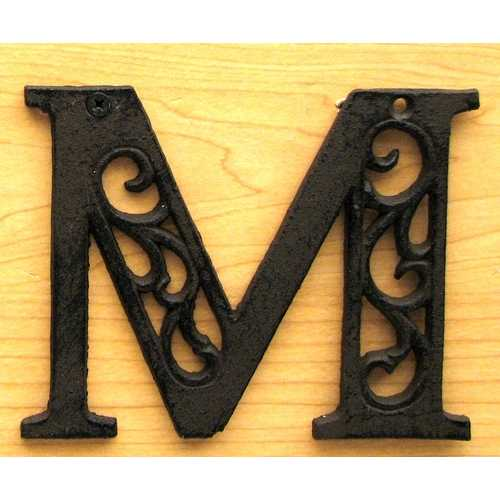 Cast Iron Letter M
