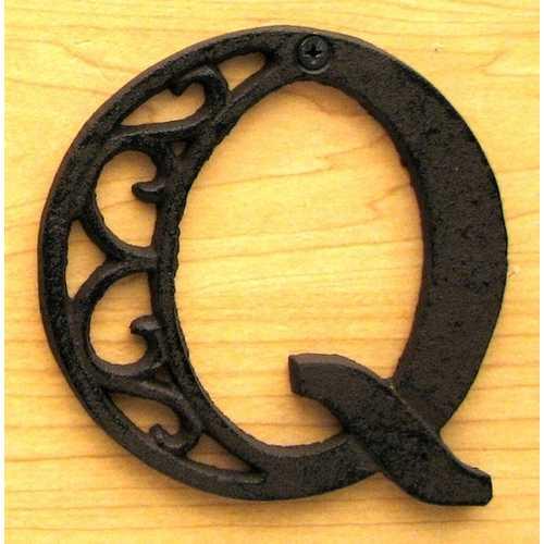 Cast Iron Letter Q