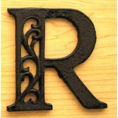Cast Iron Letter R