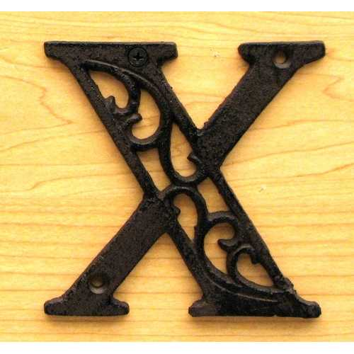 Cast Iron Letter X