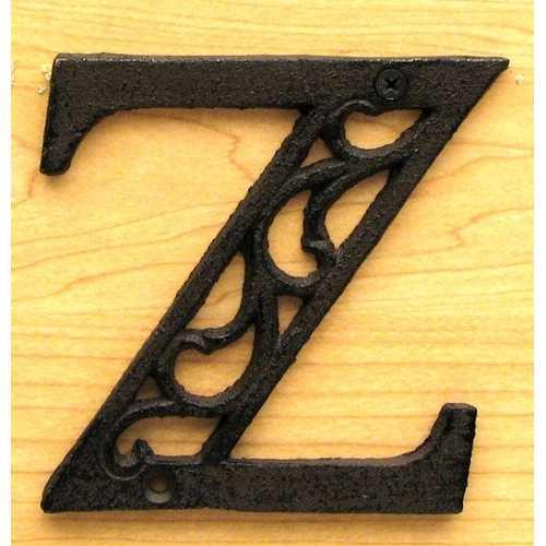 Cast Iron Letter Z