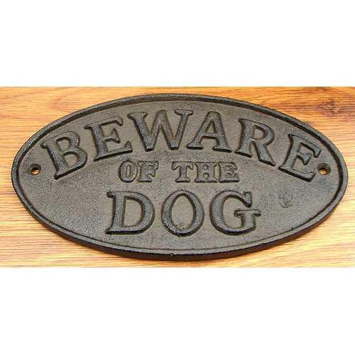 "Cast Iron ""BEWARE OF THE DOG"""