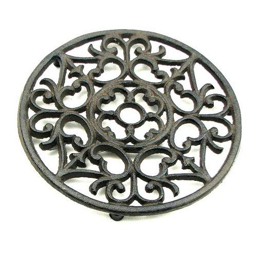 Cast Iron Ornate Trivet