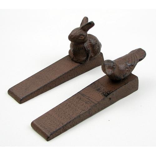 Bird & Rabbit Cast Iron Door Stop