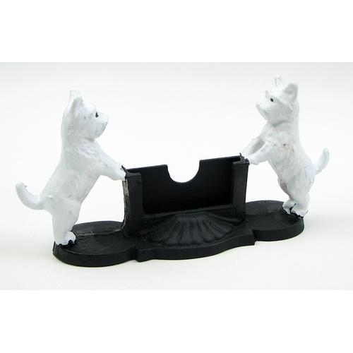 Cast Iron Dog Card Holder
