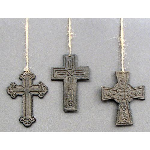 Cast Iron Crosses Set of 3