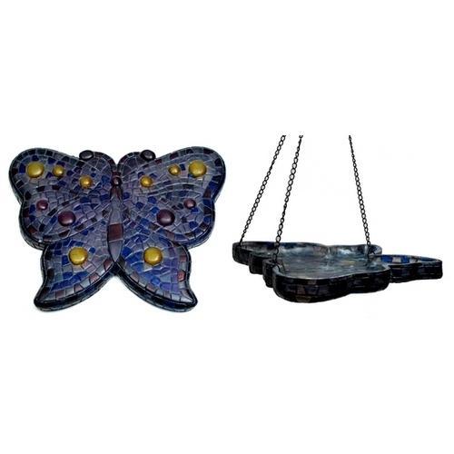 Mosaic Butterfly BirdfeederWall Plaque