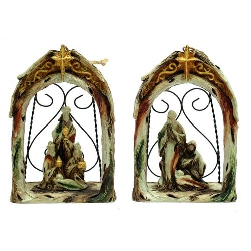 Nativity Ornament Set of 2