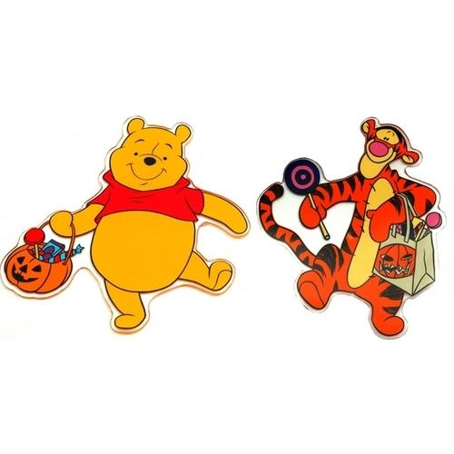 Disney Pooh and Friends Halloween Window Jelz Set of 2