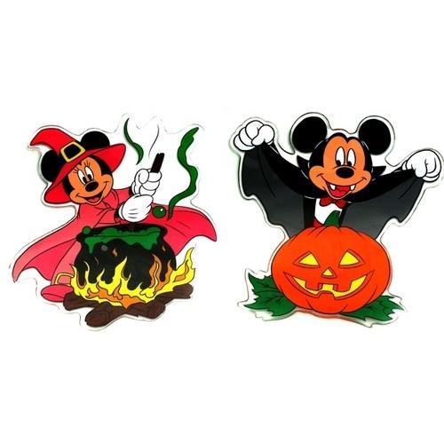 Disney Mickey and Minnie Halloween Window Jelz Set of 2