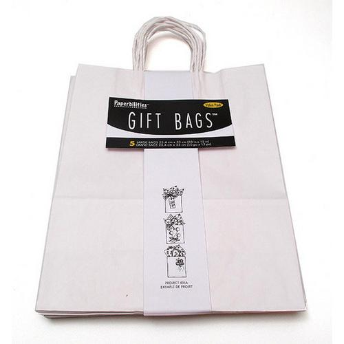 Gift Bag White Pack 5