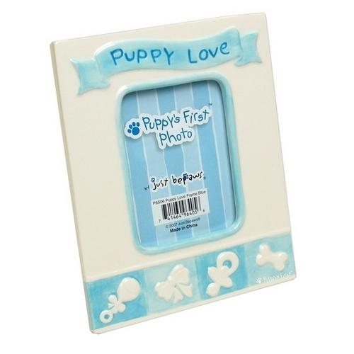 Blue Puppy's First Photo Frame