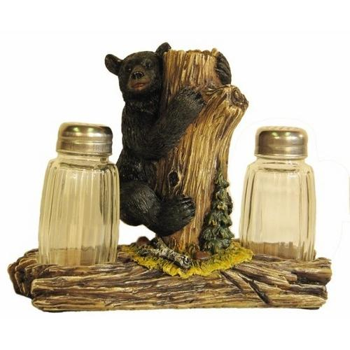 Bear On Tree Salt & Pepper Shakers