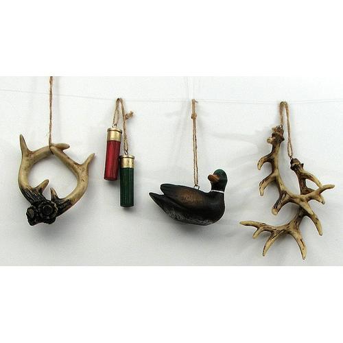 Hunting Ornaments Set of 4