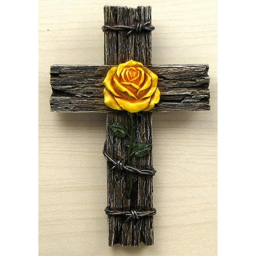 Yellow Rose Cross