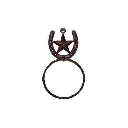 Metal Star/ Horseshoe Towel Ring