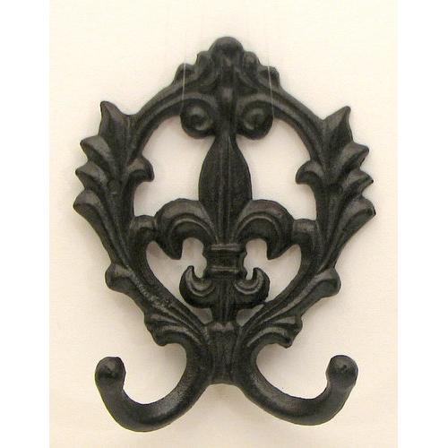Scroll Fleur De Lis Double Hook
