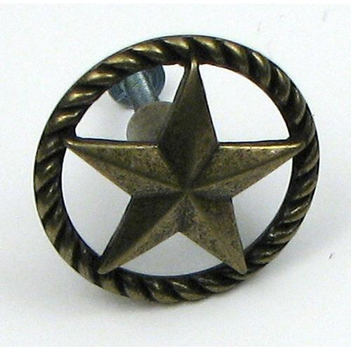 Antique Brass Star Drawer Handle Each