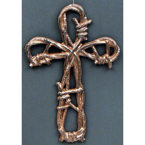 Cast Iron Barbed Wire Cross