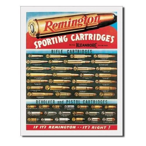 Tin Sign Remington Sporting Cartridges