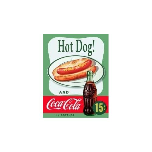 Tin Sign Coke Hot Dog