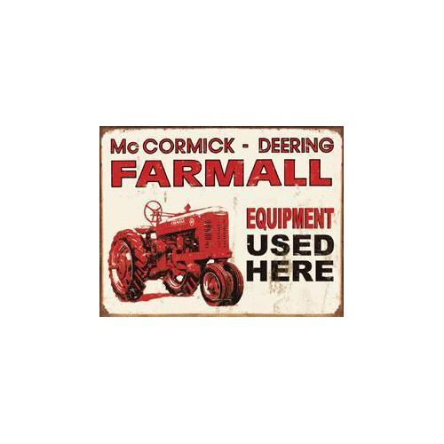 Tin Sign - Farmall - Equip Used Here
