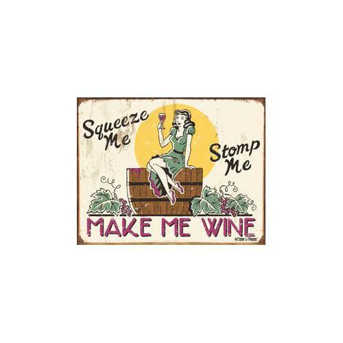 Tin Sign Moore - Make me Wine