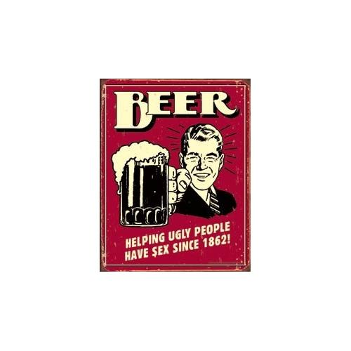 Tin Sign Beer - Ugly People