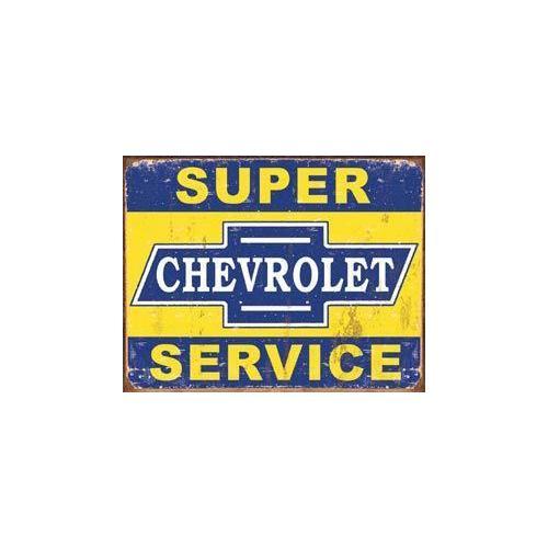 Tin Sign - Super Chevy Service
