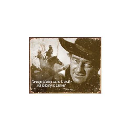 Tin Sign John Wayne - Courage