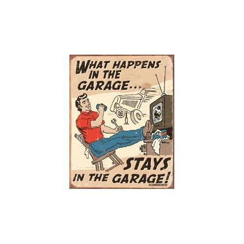 Tin Sign Schonberg - Happens in Garage