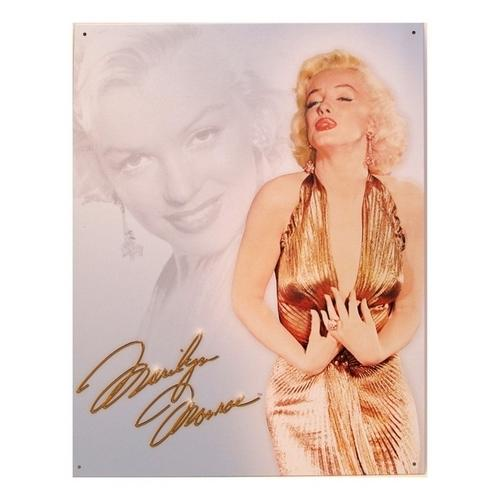 Tin Sign Monroe Gold Dress