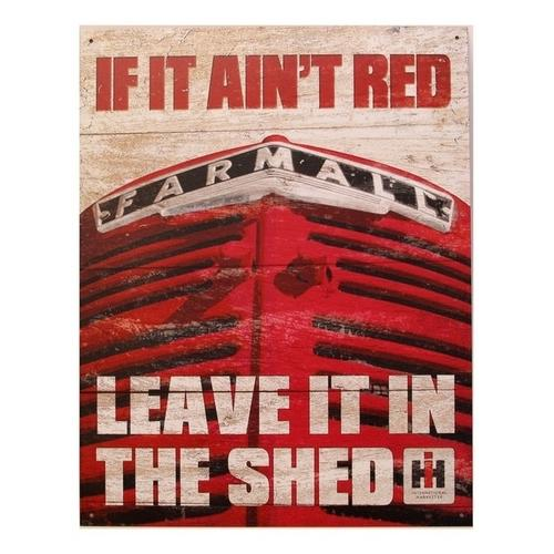 Tin Sign Farmall - If it Ain't Red