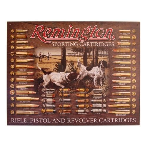 Tin Sign Remington Bullet Board