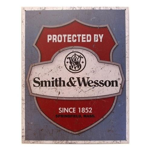 Tin Sign Smith & Wesson Protected