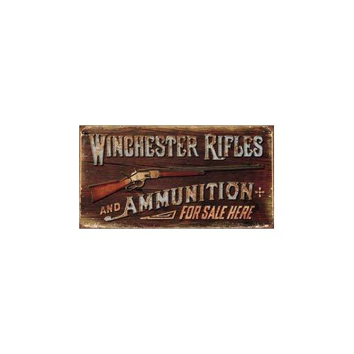 Tin Sign - Winchester - Rifles & Ammo