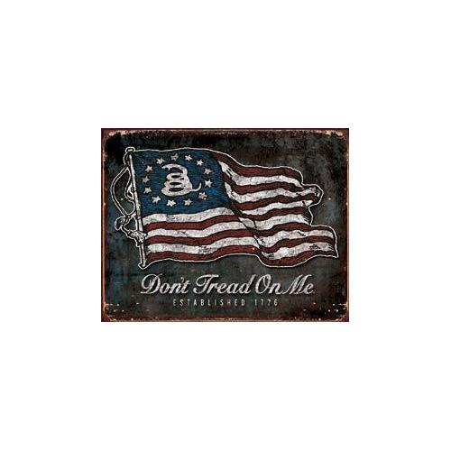 Tin Sign - DTOM Vintage Flag