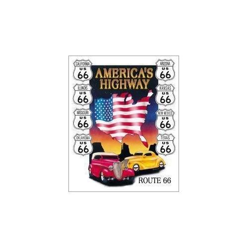 Tin Sign America's Highway