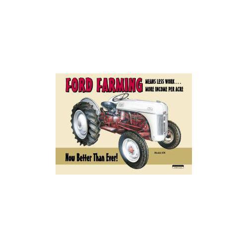Tin Sign Ford Farming 8N