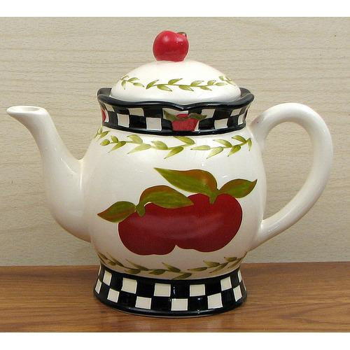 Ceramic Apple Teapot